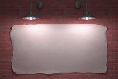 Un manifesto delle due lampade Immagine Stock