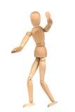 Un mannequin di legno gesticulate fotografia stock