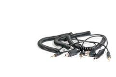 Un manojo de cables usados para el flash Foto de archivo