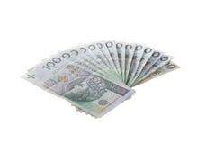 Un manojo de dinero polaco Imágenes de archivo libres de regalías