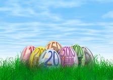 Huevos de Pascua euro de la nota Foto de archivo libre de regalías