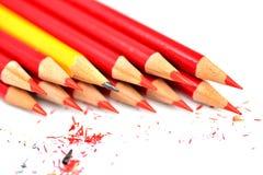 Un manojo de lápiz aislado en blanco Fotos de archivo