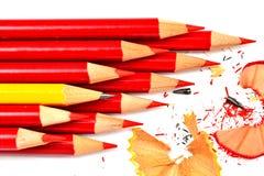 Un manojo de lápiz aislado en blanco Imagen de archivo
