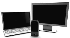 Un manojo de la red TV y del teléfono celular Foto de archivo libre de regalías