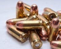 Un manojo de las balas 45acp Fotografía de archivo libre de regalías
