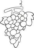 Un manojo de las uvas b/w stock de ilustración