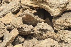Un manojo de piedras se cierra para arriba Fotos de archivo