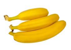 Un manojo de plátanos aislados Foto de archivo
