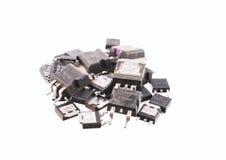 Un manojo de transistores que ponen alrededor imagen de archivo libre de regalías