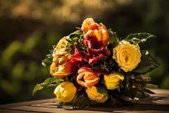 Un manojo maravilloso de rosas Imagen de archivo