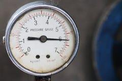 Un manometro di due pressioni Immagine Stock