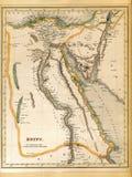 Mapa del siglo XIX de Egipto Imagen de archivo libre de regalías