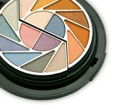 Un maquillaje colorido - kit de los cosméticos Fotografía de archivo libre de regalías