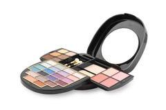 Un maquillaje colorido - kit de los cosméticos Foto de archivo libre de regalías