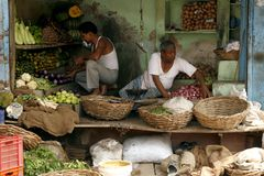 Un marché végétal plutôt modifié Image stock