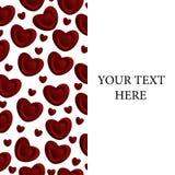 Un marco de corazones rojos Imágenes de archivo libres de regalías