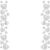 Un marco de los corazones blancos Fotos de archivo