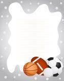Marco de los deportes Foto de archivo libre de regalías