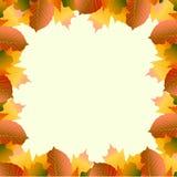 Un marco del descuento de las hojas de otoño vector el ejemplo stock de ilustración