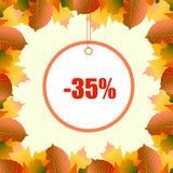 Un marco del descuento de las hojas de otoño vector el ejemplo libre illustration
