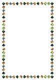 Un marco del vidrio manchado. Fotografía de archivo libre de regalías
