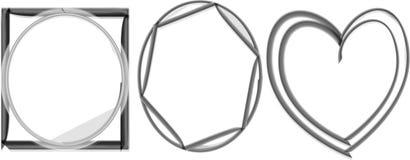 Un marco lindo de la foto forma blanco y negro Imagen de archivo libre de regalías