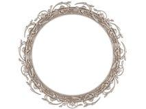 Un marco redondo decorativo aislado Imagen de archivo
