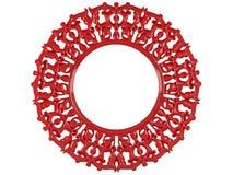 Un marco redondo decorativo aislado Imagen de archivo libre de regalías
