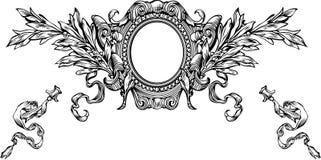 Un marco y rayas de la armería del color ilustración del vector