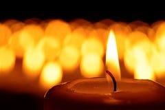 Un mare delle candele Fotografia Stock Libera da Diritti