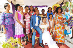 UN MARIAGE CIVIL Photos libres de droits