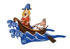 Un mariage dans le bateau illustration libre de droits