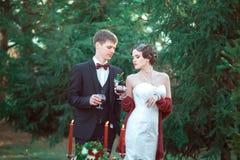 Un mariage dans le rétro style Photographie stock libre de droits