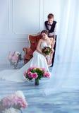 Un mariage dans le rétro style Photos stock