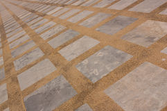 Un marmo rettangolare e pavimenti di terrazzo Immagini Stock Libere da Diritti