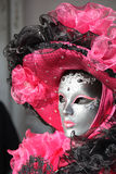 Un masque argenté à Venise Image stock
