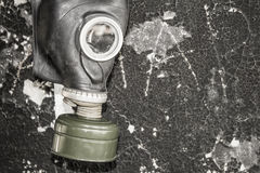 Un masque de gaz La menace de l'écologie photos libres de droits