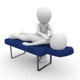 Un massage est bon Image stock