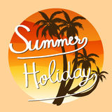 Un materiale illustrativo di vacanza estiva Fotografia Stock