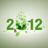 un materiale, un foglio e un mondo delle 2012 erbe Immagini Stock Libere da Diritti