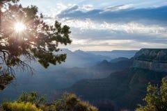 Un matin au canyon grand Image libre de droits