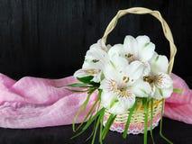 Un mazzo dei fiori di alstroemeria Primo piano Fotografie Stock Libere da Diritti