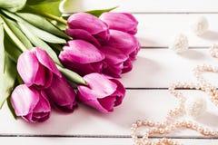 Un mazzo dei tulipani Immagine Stock