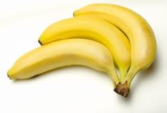 Un mazzo di 3 banane Fotografia Stock Libera da Diritti