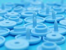 Un mazzo di bottoni della rottura del blu fotografie stock