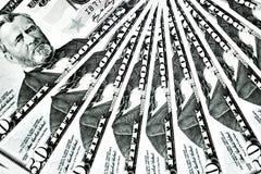 Un mazzo di cinquanta dollari Immagini Stock Libere da Diritti