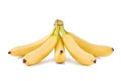 Un mazzo di cinque banane Fotografie Stock Libere da Diritti