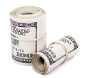 Due 100 US$ Rolls Immagine Stock Libera da Diritti