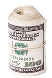 Un rotolo di 100 fatture di US$ Immagini Stock Libere da Diritti