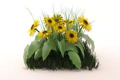 Un mazzo di fiori gialli illustrazione di stock